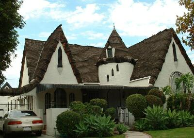 Classic storybook home with magnificent seawave roof.
