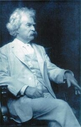 Samuel Langhorne Clemens (Mark Twain), photographed in 1903.